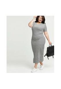Vestido Feminino Longo Listrado Plus Size Costa Rica