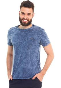 Camiseta D'Affari Estonada Marmorizado Sky - Masculino