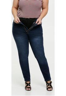 Calça Feminina Jeans Skinny Modeladora Plus Size Razon