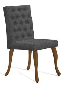 Cadeira Juliete T1071 Com Capitonê-Daf Mobiliário - Cinza