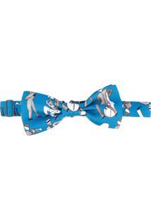 Dolce & Gabbana Gravata Borboleta De Seda - Azul