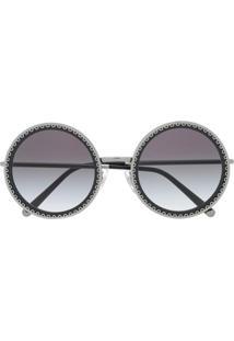 a01cd0971074d R  2298,00. Farfetch Dolce   Gabbana Eyewear Round Frame Sunglasses - Preto