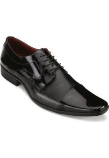 Sapato Promais Verniz - Masculino-Preto