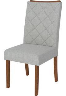 Cadeira Golden 2 Peças - Linho Claro - Rústico Terrara