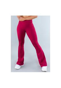 Calça Feminina Mvb Modas Flare Pantalona Suplex Vinho