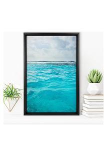 Quadro Com Moldura Chanfrada Ocean Preto - Médio