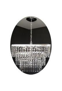 Lustre Pendente De Cristal Acrílico Alto Brilho 50X70 Lina Design Ac23