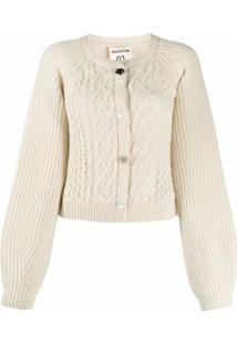 Semicouture Cable-Knit Cardigan - Neutro