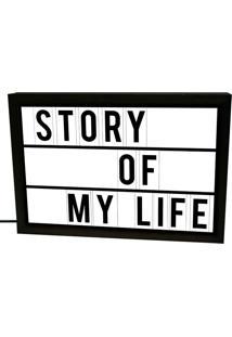 Luminária Prolab Gift Story Of My Life Preta