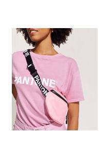 Pochete Feminina Pantone Com Zíper Rosa