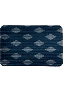 Capacho Carpet Triangulos Separados Azul Único Love Decor