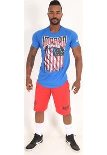 Camiseta Long U.S.A. Flag-Azul-Gg - Masculino