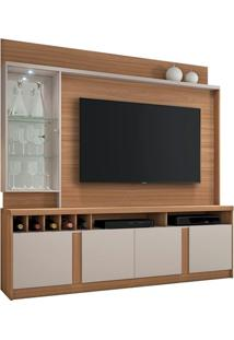 "Estante Home Canastra Para Tv Até 60"" Naturale/Off White"