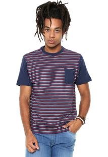 Camiseta Rusty Micra Azul-Marinho/Vermelha