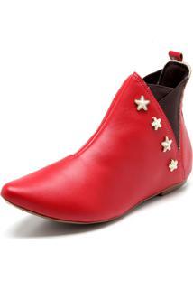 Bota Chelsea Fiveblu Estrelas Vermelha