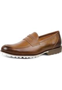 Sapato Social Loafer Sandro Moscoloni Yosomite Marrom Claro
