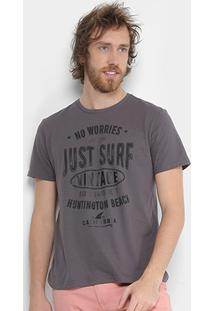 Camiseta Tigs Just Surf Masculina - Masculino-Chumbo
