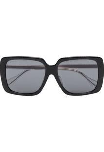 Gucci Eyewear Óculos De Sol Quadrado - Preto