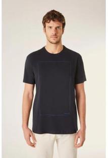 Camiseta Estampada Silencio Vj Reserva Masculina - Masculino-Preto
