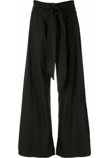Esc Calça Pantalona Cós - Preto