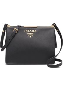 Prada Logo Shoulder Bag - Preto