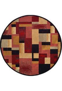Tapete Redondo Veludo Marbella Illusione Artistic Preto 150X150 Cm