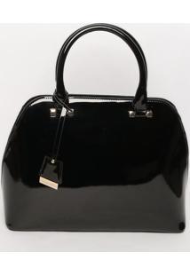 Bolsa Com Bag Charm- Preta- 27X36X14,5Cmloucos E Santos