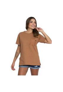 Camiseta De Moletom Le Julie Caramelo