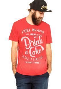 Camiseta Coca-Cola Jeans Comfort Vermelha