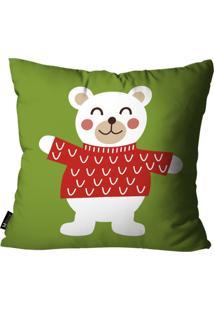 Capa Para Almofada Mdecore Urso Verde 55X55
