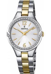 Relógio Festina Feminino Aço Prateado E Dourado - F20247/2