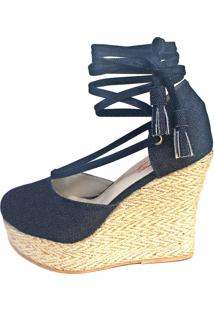 Sandália Blume Calçados Flirt Jeans