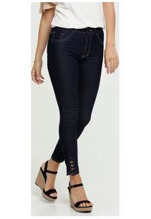 Calça Jeans Cigarrete Feminina Botões Biotipo