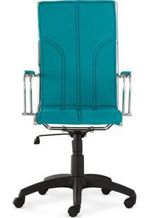 Cadeira Donati - Encosto Alto - Turquesa