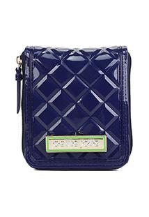 Carteira Petite Jolie J-Lastic Pocket Verniz Feminina - Feminino-Azul Navy