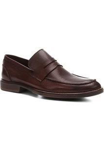 Sapato Social Shoestock Detalhe Pesponto Masculino - Masculino-Caramelo