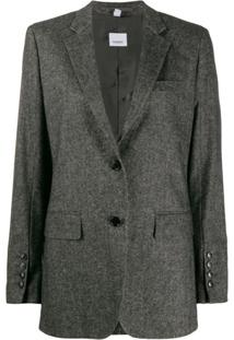 Burberry Jaqueta De Tweed - Preto