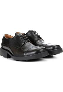 Sapato Casual Couro Ellus Coturno Clássico - Masculino-Preto
