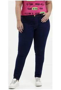 Calça Feminina Jeans Skinny Plus Size Biotipo