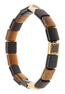 Nialaya Jewelry Pulseira Com Contas - Preto