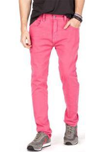 Calça Jeans +5511 Mtv Reserva Masculina - Masculino-Rosa