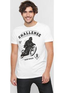 Camiseta Sommer Estampa Challenge - Masculino-Branco