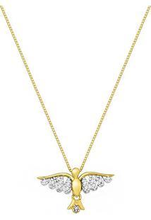 Colar Divino Espírito Santo Ouro Amarelo E Diamantes