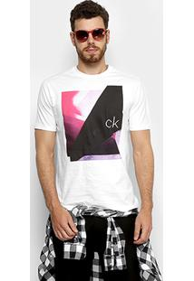 Camiseta Slim Calvin Klein Com Estampa Masculina - Masculino