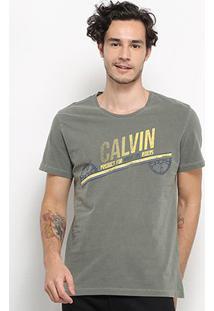 Camiseta Calvin Klein Hardcore Riders Masculina - Masculino-Verde