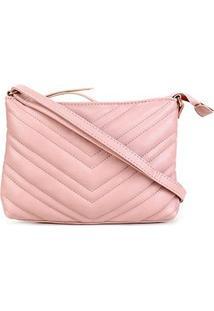 Bolsa Pagani Mini Bag Transversal Matelassê Feminina - Feminino-Nude