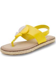 Sandália Feminina Flat Moleca - 5413618 Amarelo 34