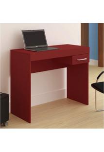 Mesa Para Computador Com Gaveta Cooler Artely Vermelho