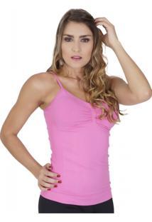 Camiseta Modeladora Click Chique Sem Costura Rosa