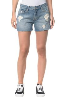 Shorts Jeans Five Pockets - Azul Claro - 34